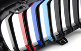 M-Colored Grille Insert Trim Tri Color Strips Fit BMW 4 Series F32 F33 F36 2014+ 420i 428i 435i 420d 425d 430d 435d (9 beam bars)