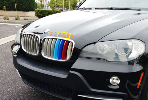 M Sport Colored Center Kidney Grille Insert Trim Strips For BMW X5 X6 E70 E71  (7 beam bars)