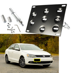 Tow Hook License Plate Bumper Mount Bracket Fit Volkswagen Jetta 2006-2009