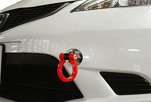 Sports Red/  Neo Track Racing Style Aluminum Tow Hook For Honda FIT 2nd CR-Z 2010-14