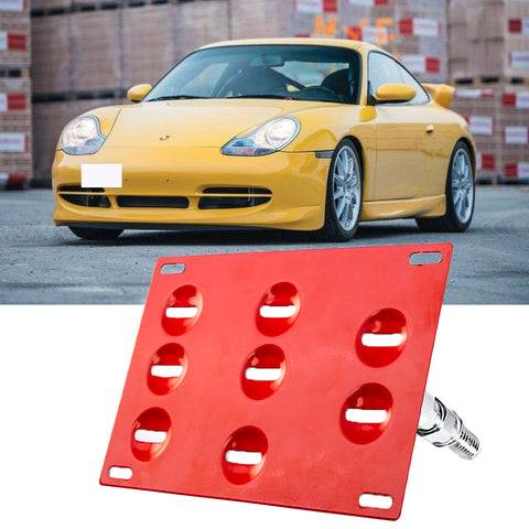 Bumper Tow Hook License Plate Mount Bracket for Porsche 911 Carerra 1994-2011 Black/ Gold/ Red