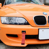 Blue / Black / Red JDM Style Tow Hole Adapter with Towing Strap for BMW 1 3 5 6 Series X5 X6, Fit Mini Cooper
