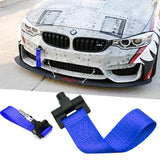 Red / Blue / Black JDM Style Tow Hole Adapter with Towing Strap for BMW X1 X3 X4 X5 X6 2 3 4 5 Fxx Series 2012+