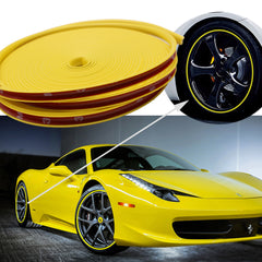 "394"" Yellow\ Green\ Gray\ Orange\ Blue Strip Car Wheel Hub Rim Protector Tire Ring Guard Rubber Sticker"