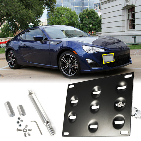 License Plate Mounting Bracket Front Bumper Tow Hook for FRS BRZ WRX STi 86 Toyota Scion Subaru