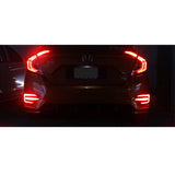 Red LED Reflector Rear Bumper Tail Light Brake Fog Lamp Set JDM Racing Style for HONDA CIVIC 2016 2017