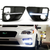 2015-17 Subaru WRX / STi LED Daytime Running Light DRL Strips Fog Light Bezels White