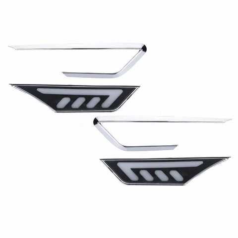 2x JDM Clear White/Amber COB Side Marker Lights for 2016-up 10th Gen Honda Civic