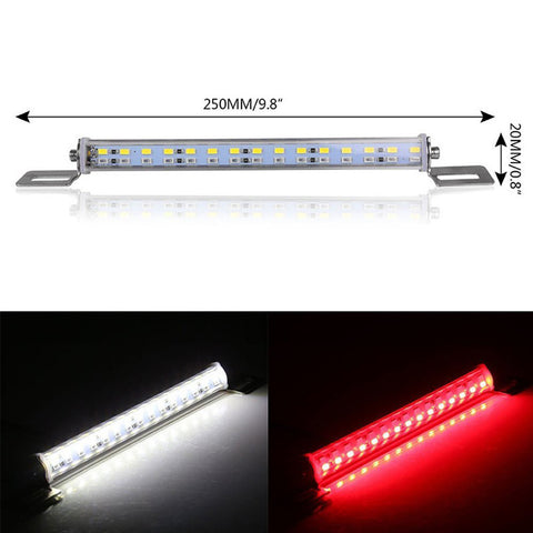 Dual Color White/Red 30SMD LED Lamp License Plate Backup Brake Reverse Fog Light Multi-funtion