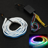 Multicolor RGB Trunk Tail LED Knight Rider Strip Brake Turn Signal Driving Light