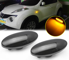 LED Dynamic Side Marker Turn Signal Light Lamp For Nissan Leaf Juke Qashqai Micra Cube Note Dualis March X-Trail