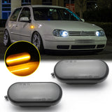 2PCS LED Side Indicator Marker Light Kit Turn Signal Sequential Lamp Bulbs Compatible for Volkswagen for VW MK4 GTI R32 Golf Jetta Bora B5 B5.5 Passat New Beetle