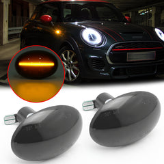 Amber LED Side Marker Light Turn Signal Dynamic Lamp Bulbs Compatible for MINI Cooper Gen2 R55 R56 R57 R58 R59, Replace OEM Side Marker Lights