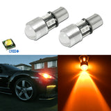 2x Amber / Yellow CREE 15W 1156 7506 1156A Car Turn Signal LED Light Bulbs