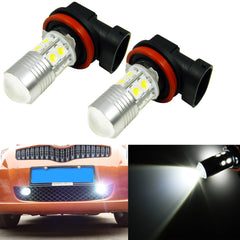 2x Super Bright Xenon White Projector H8 H11 LED Bulbs For Fog Light Driving Lamps