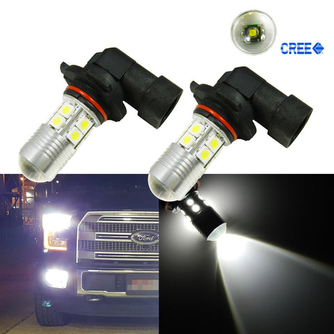 2x Super Bright 5W Xenon White Projector H10 9145 LED Bulbs For Fog Driving Lights