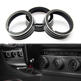 Anodized Aluminum Alloy AC Climate Control Knob Ring Cover for VW MK7 Golf GTI Black/ Silver/ Blue/ Red