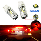 7440 7443 High Power White 80W CREE Projector LED For Backup Reverse Tail Parking Turn Signal Lights