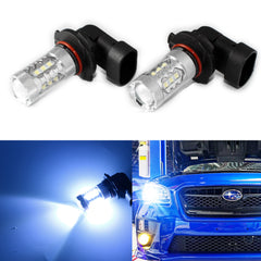 2pcs Ice Blue 10000K 80W Iceberg 9005 LED Bulbs For Subaru Daytime Running Lights DRL