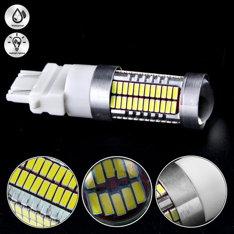 3157 White/Amber/Red Projector Lens 106-SMD LED Bulbs for Turn Signal Parking Corner Lights