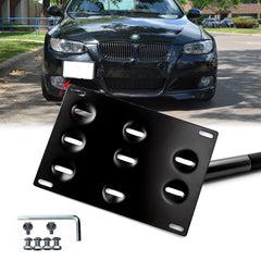 1 Set Front Tow Hook License Plate Bumper Mounting Bracket Fit BMW 1 3 5 Series X5 X6 E36 E82 E88 E90 E91 E92 E93 E70 E71 M3