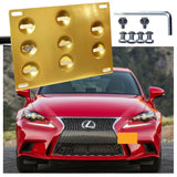 Black/ Gold/ Red Aluminum Bumper Tow License Plate Mount Bracket Direct Fit for Lexus IS 2006-2018, Lexus CT 2011-2017