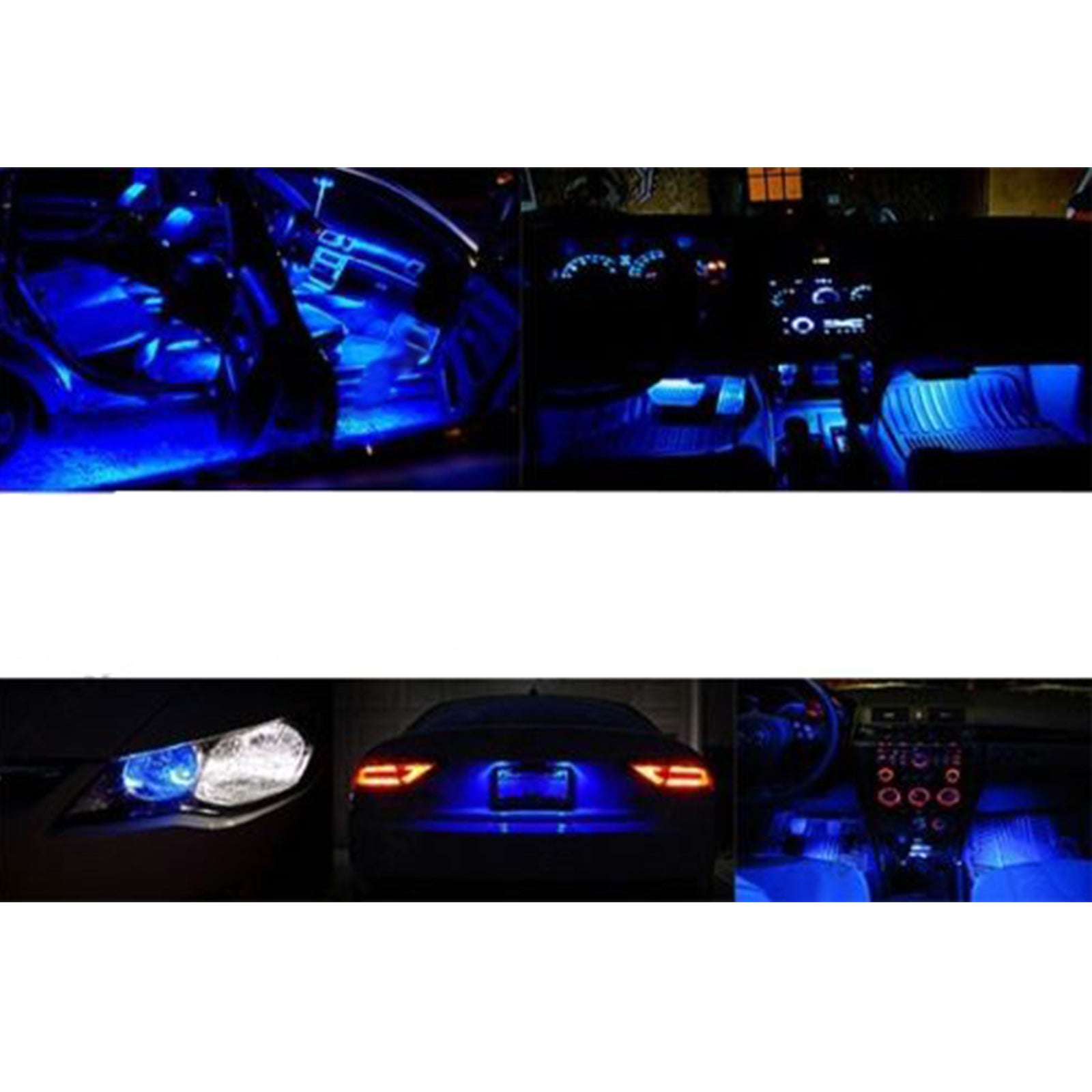 2009 2015 Honda Pilot 13x Interior Lights White Blue Led Fog Light Wiring Harness Package Kit