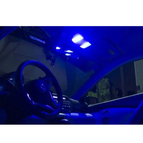 2005 - 2017 Ford Mustang 4-Light LED Full Interior Lights Package Kit [White\ Blue]
