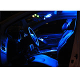 2010-2015 Hyundai Genesis Coupe 6x Interior LED Lights Package Kit White\ Blue