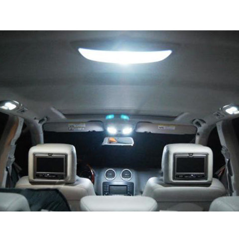 2011-2015 Ford Explorer 8x Light Bulbs SMD Interior LED Lights Package Kit[White\ Blue]