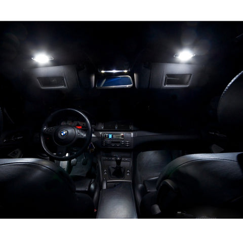 2007 - 2014 Chevy Suburban Tahoe 6-Light LED Full Interior Lights Package Kit White\ Blue