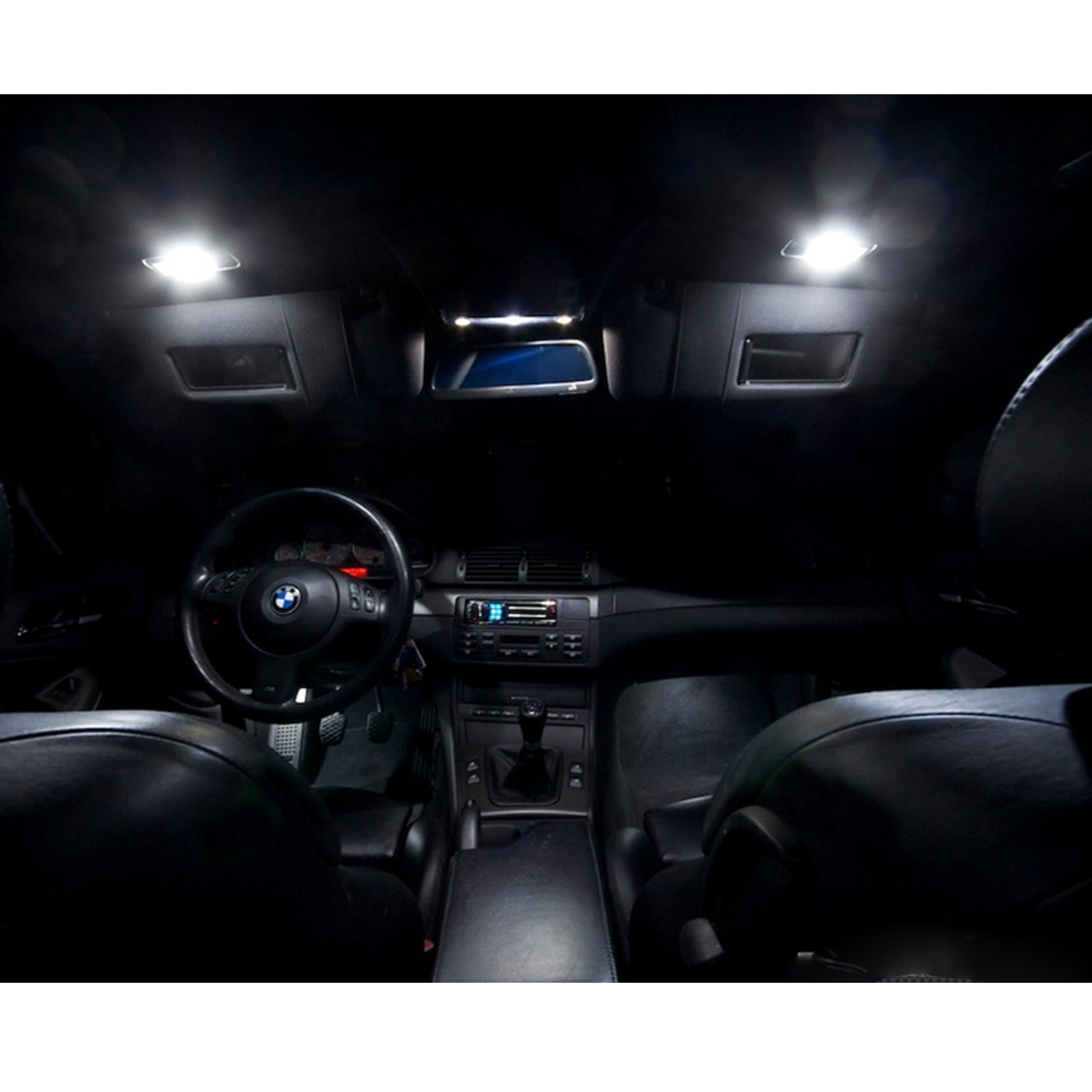 2011-2014 Dodge Charger Blue LED Interior Lights Package Kit