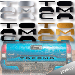 Vinyl Insert Letters Decal Sticker For 2016-2018 Toyota Tacoma Rear Tailgate Matte Black \ Glossy Black \ Brushed Gold \ Brushed Silver\ Glossy Red
