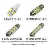 11 x LED SMD Interior Lights Package Kit for 2011 and up Porsche Cayenne White \ Blue