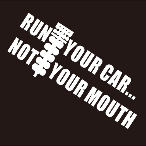 3pcs RUN YOUR CAR NOT MOUTH DRAG RACE CHEVY Car Window Die-Cut Graphic Vinyl Decals for SUV Truck Car Bumper, Laptop, Wall, Mirror, Motorcycle