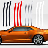For Chevy Camaro L&R Side Vent Insert Black/ Brushed Silver/ Red/ White/ Matte Black Stripe Decal Inlay Sticker 2011 - 2015