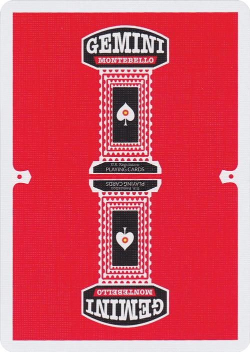 Gemini Casino playing cards - Red Edition