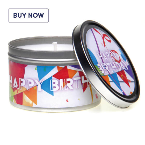 Happy Birthday celebration Gift Tin Candle - Various Scents