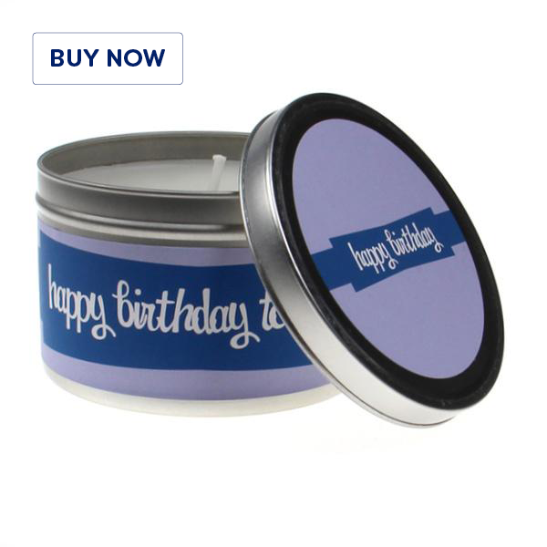 Happy Birthday Blue 1 Tin Candle - Various Scents