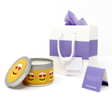 Emoji Love, Be Loved, In Love Gift Tin Candle - Various Fragrances