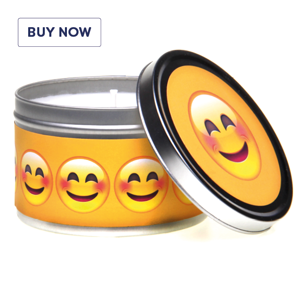 Emoji There Is A Lot To Smile About Gift Tin Candle -Various Fragrance