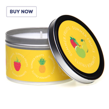 Fragrant Fruits Gift Tin Candle Range - Summer Fruits
