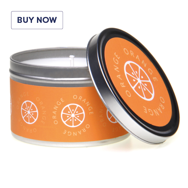 Fragrant Fruits Gift Tin Scented Candle Range - Oranges