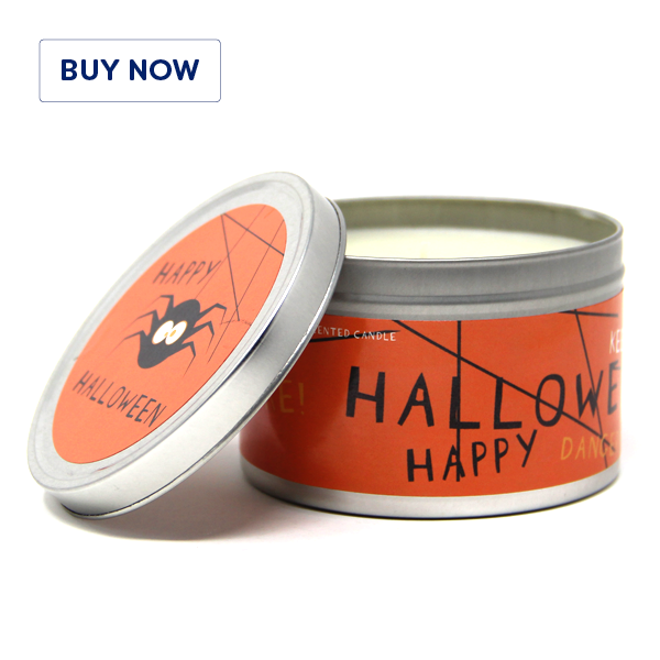 Halloween Tin Candle Design – Scary Spices