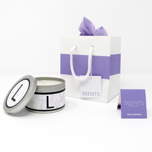 In-Scents Personalised In-itial Alphabet Letter L Gift Tin Candle - Various Scents