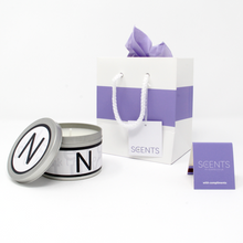 In-Scents Personalised In-itial Alphabet Letter N Gift Tin Candle - Various Scents