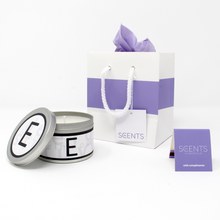 In-Scents Personalised In-itial Alphabet Letter E Gift Tin Candle - Various Scents