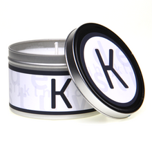 In-Scents Personalised In-itial Alphabet Letter K Gift Tin Candle - Various Scents