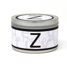 In-Scents Personalised In-itial Alphabet Letter Z Gift Tin Candle - Various Scents