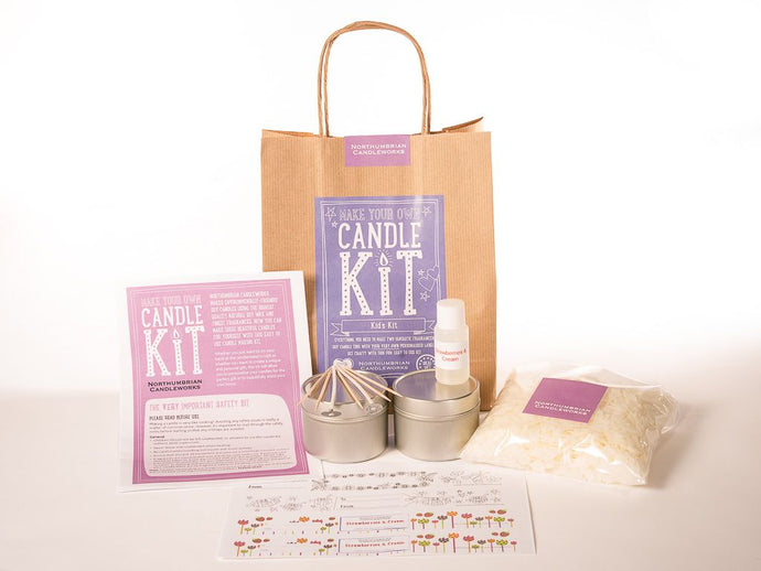 Make Your Own Candle Kit - Kids - Strawberries & Cream